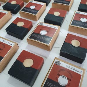 Artisanal Cold Processed Soap - Red Black Moon
